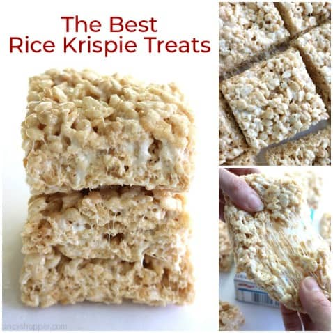 Small collage of Homemade Rice Krispie Treats