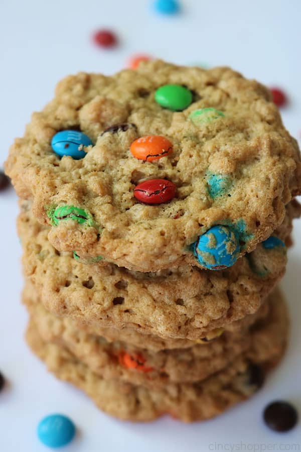Monster Cookies on a white background.