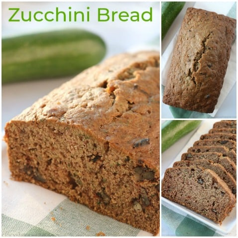 Collage of best zucchini bread.
