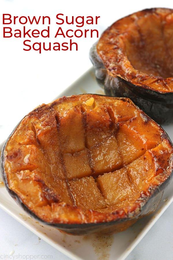 Baked Squash on platter