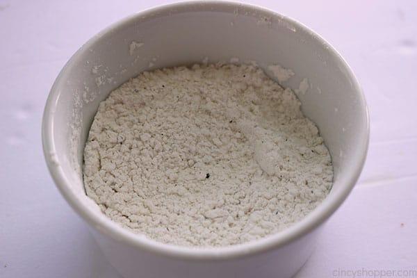 Flour mixture to make Creamy Chicken soup.