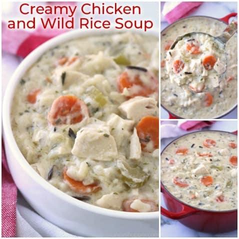 CopyCat Panera Bread Creamy Chicken and Wild Rice Soup