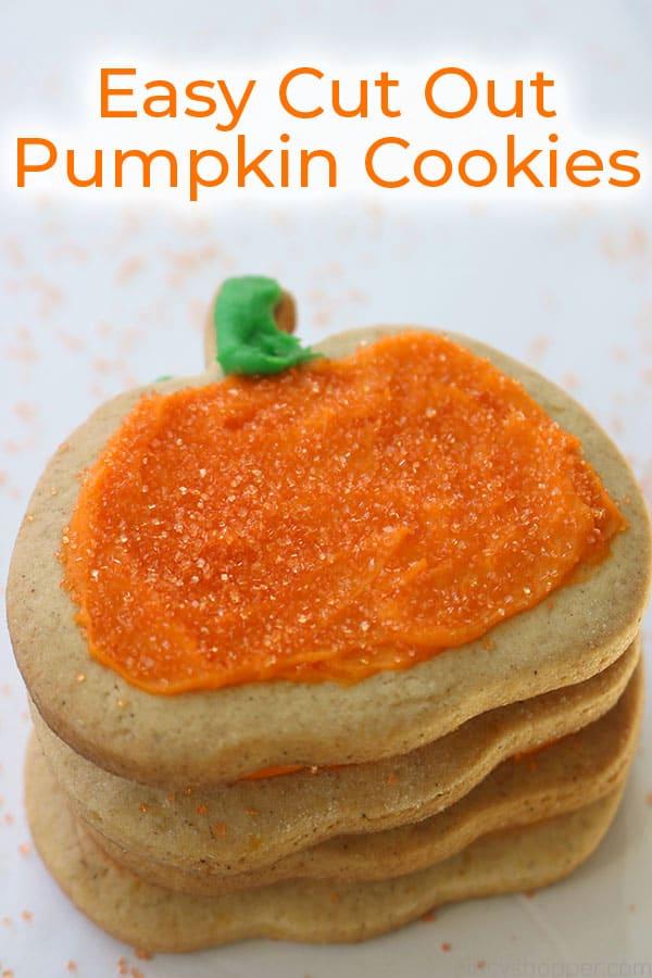 Easy Pumpkin Cutout Cookies