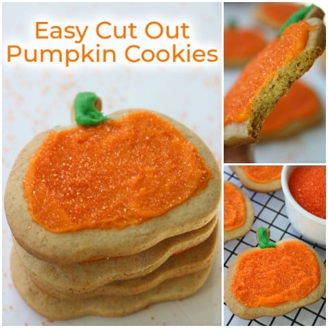Easy Pumpkin Cutout Cookies.