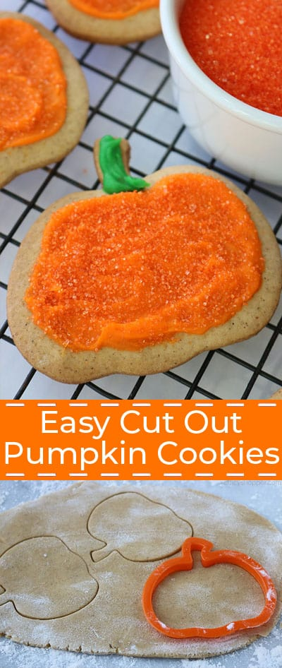 Easy Cut Out Pumpkin Cookies.