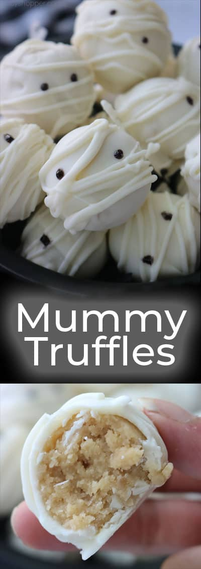Easy Halloween Mummy Truffles