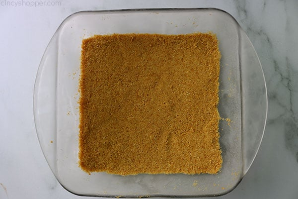 No Bake Graham Cracker Crust for making Caramel Apple Lush.
