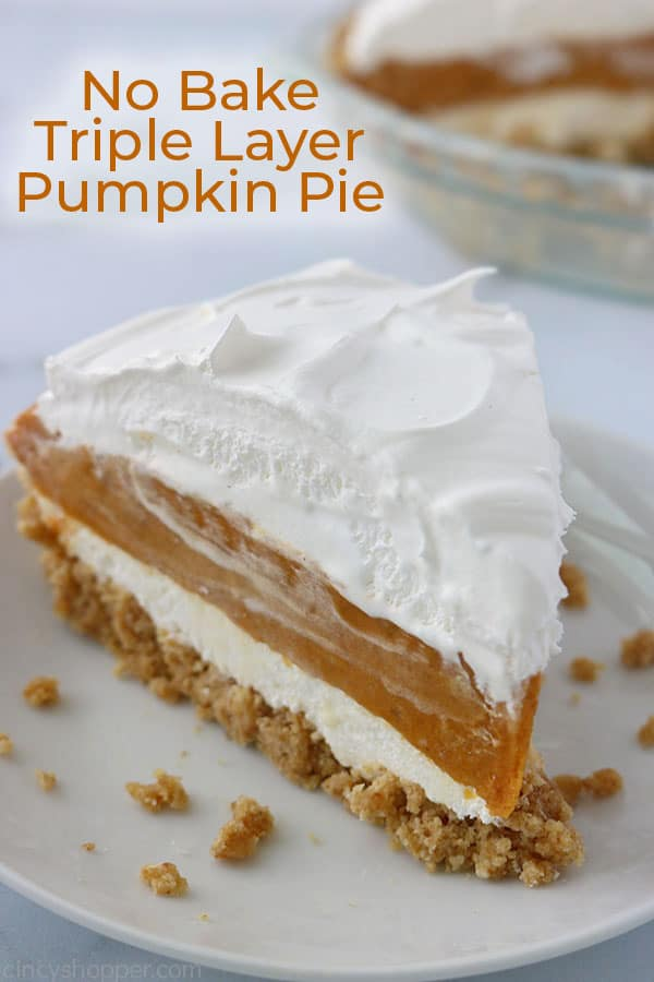No Bake Layer Pumpkin Pie slice.