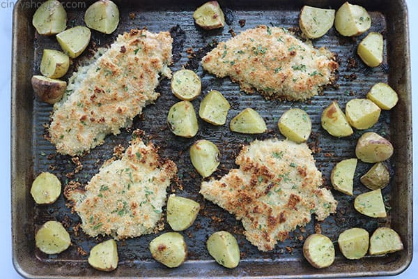 Ranch Chicken sheet pan dinner.