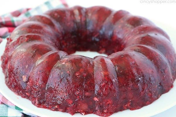 Old Fashioned Cranberry Jello mold.