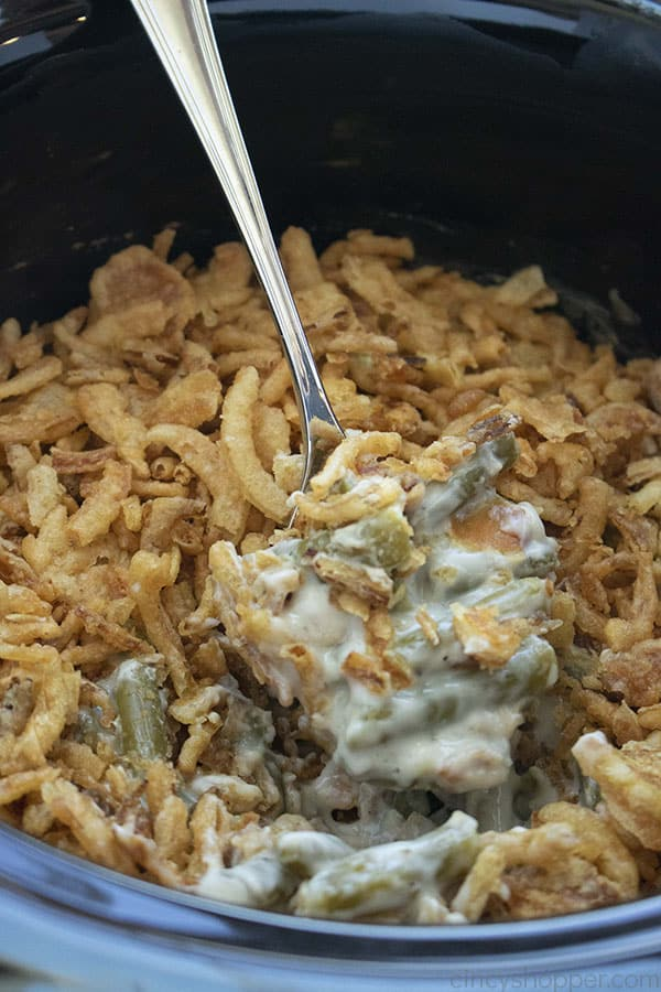 Green Bean Casserole in a Slow Cooker