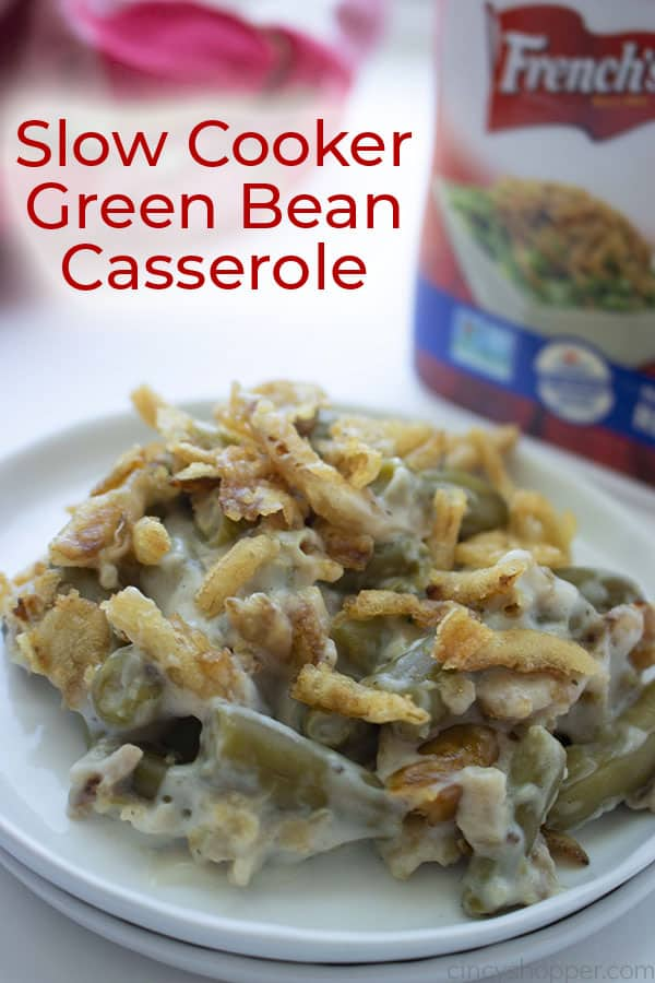 Green Bean Casserole on a plate.