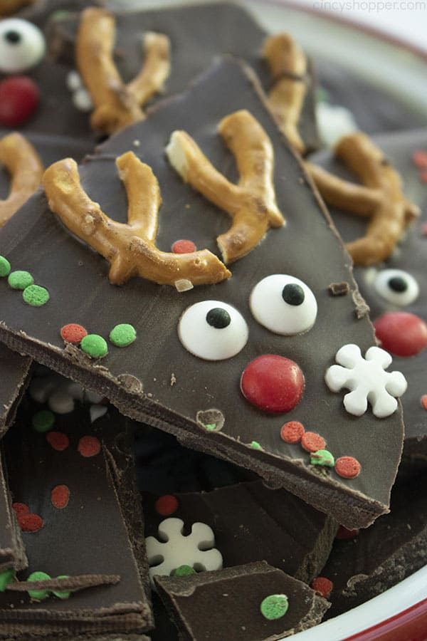 Cute Reindeer Christmas Bark
