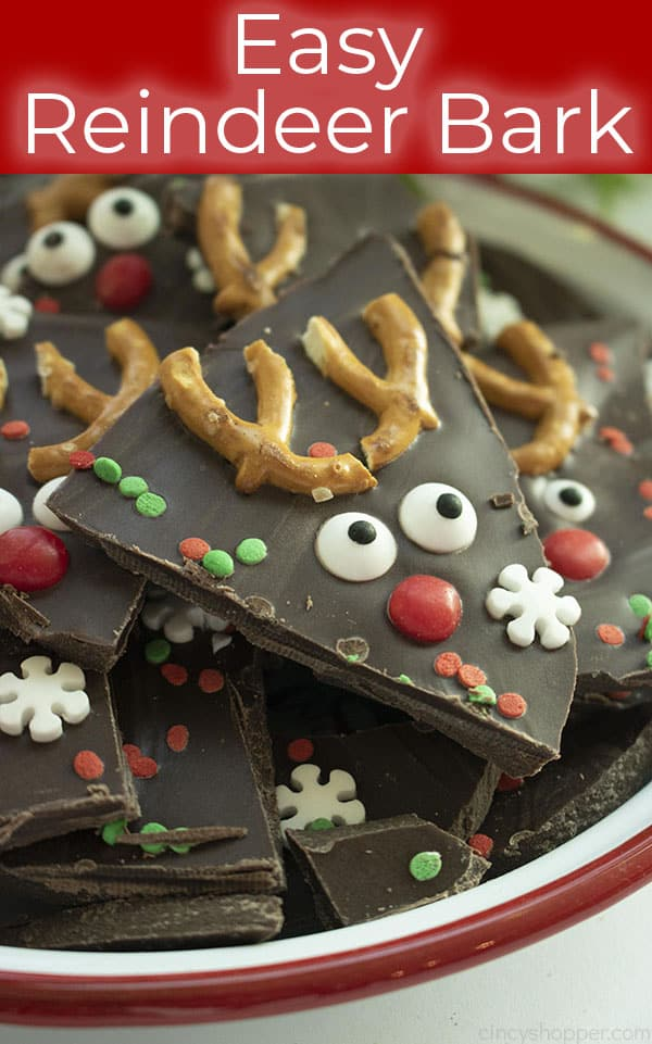 Easy Rudolph Christmas Bark