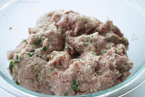 Italian Meatball mixture
