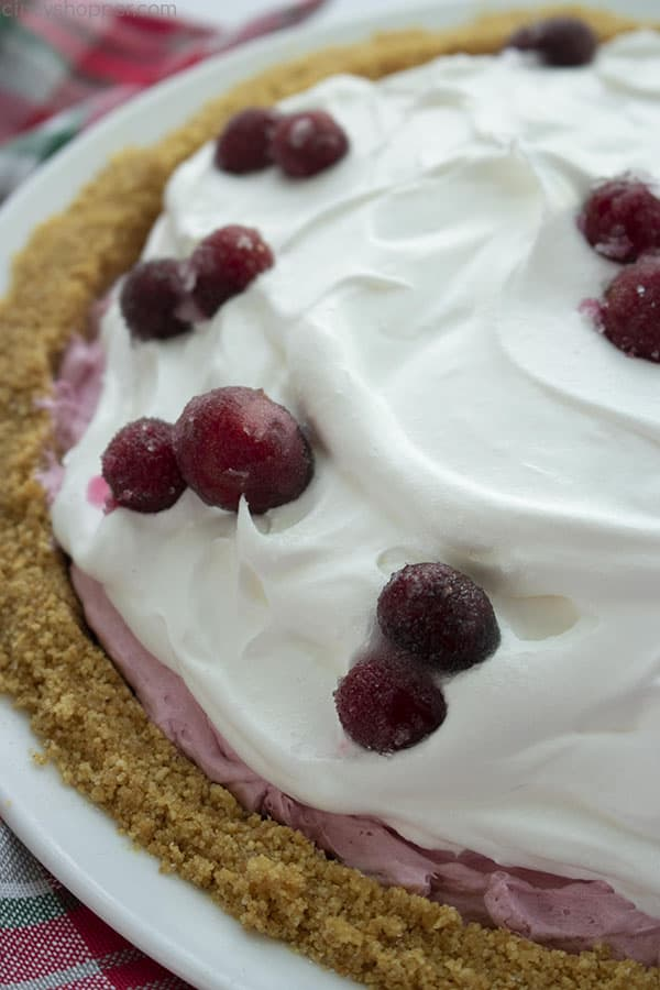 No Bake Cranberry Pie