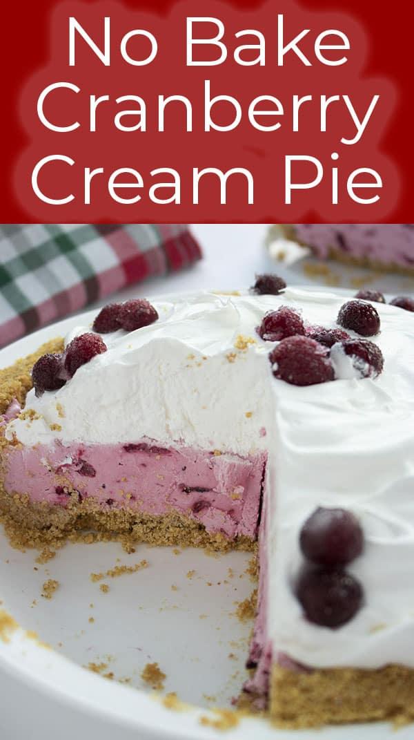 No Bake Cranberry Cream Pie