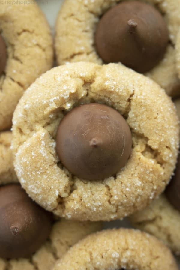 Homemade Peanut Butter Blossom Cookies