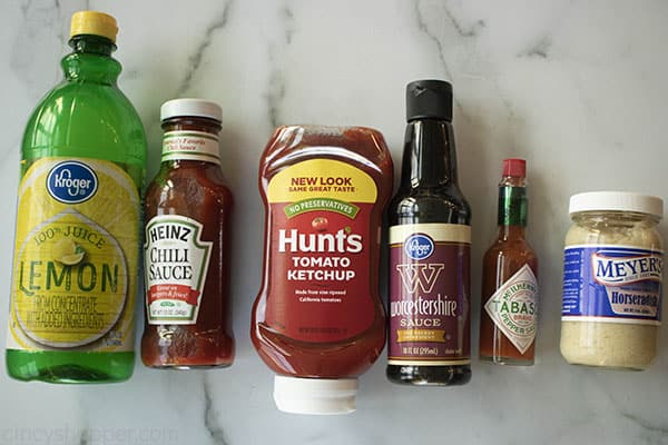 ingredients for a cocktail sauce recipe