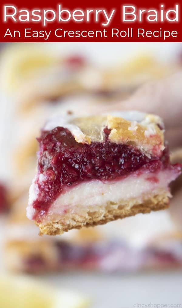 raspberry cream cheese braid