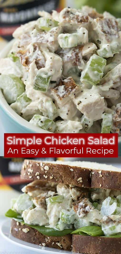 chicken salad photo collage