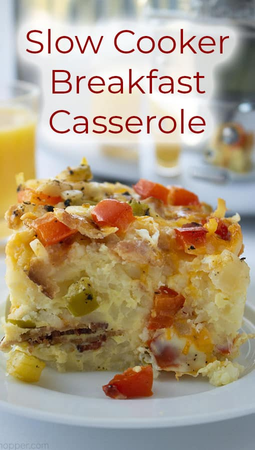 titled image (and shown): Slow Cooker Breakfast Casserole