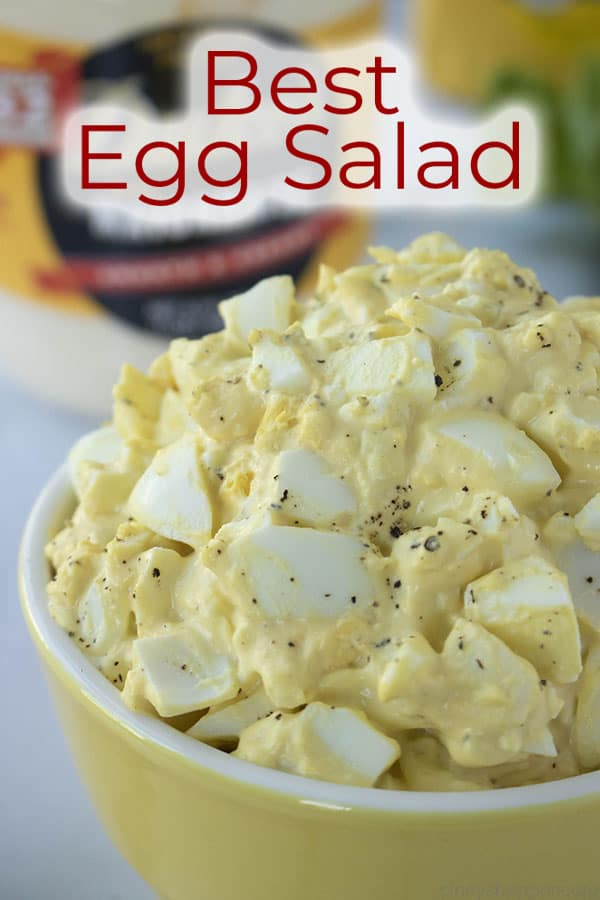 titled photo and shown: best egg salad