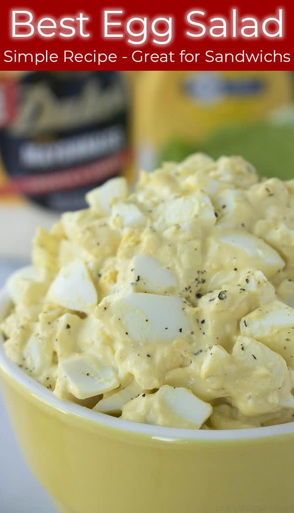 best egg salad in yellow bowl