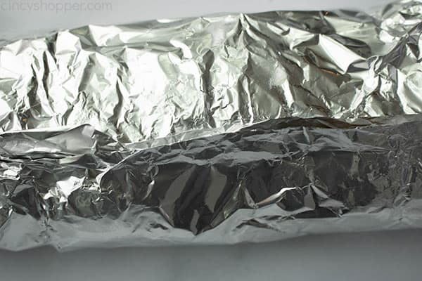 loaf of bread wrapped in foil