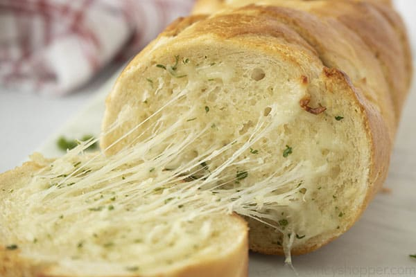 cheesy loaf of French bread