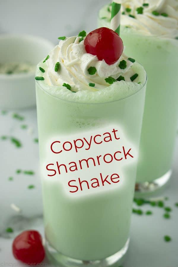 homemade shamrock shake