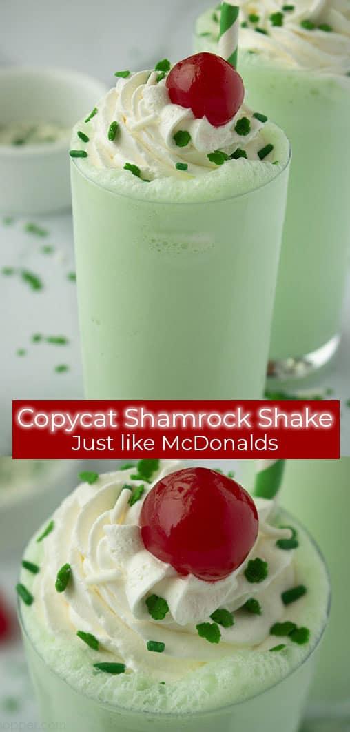 photo collage - Copycat McDonald's Shamrock Shake