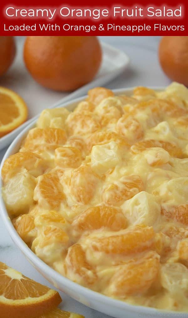 Text image with Creamy Orange Fruit Salad