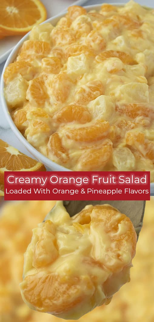 Creamy Orange Salad collage
