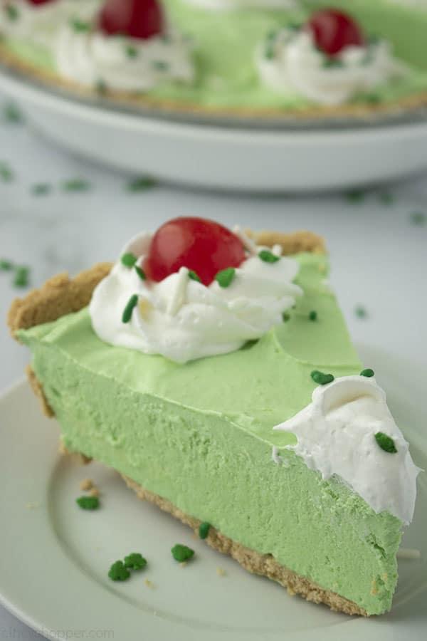 Slice of Shamrock Shake Pie