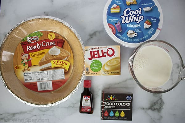 Ingredients to make green pie