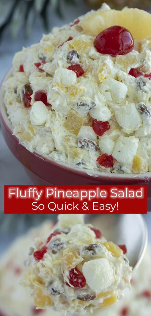 Easy Fluffy Pineapple Salad long text image