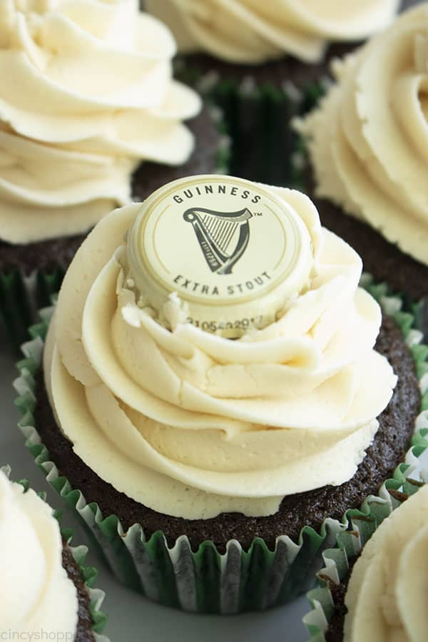 Guinness Cupcakes with Beer cap