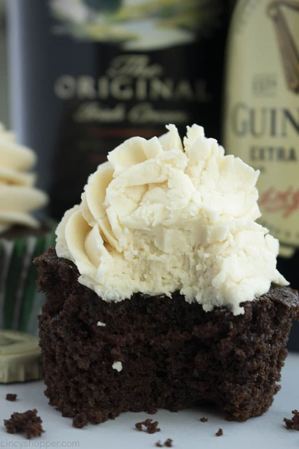 Chocolate Boozy Cupcake with frosting