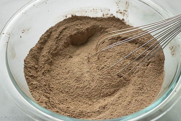 Dry chocolate cupcake ingredients