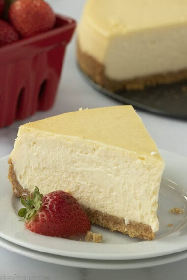 new york style cheesecake on plate