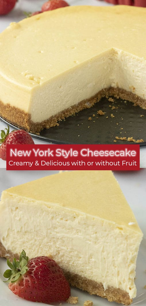 photo collage of new york style cheesecake