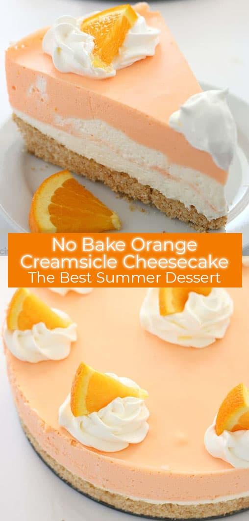 Orange No Bake Cheesecake Collage