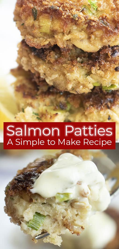 pinterest photo collage of salmon patties