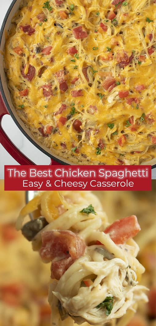titled photo collage of the best easy cheesy casserole