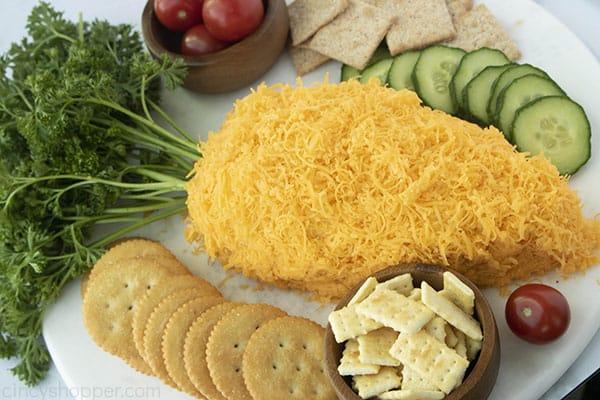 Easter carrot appetizer on platter