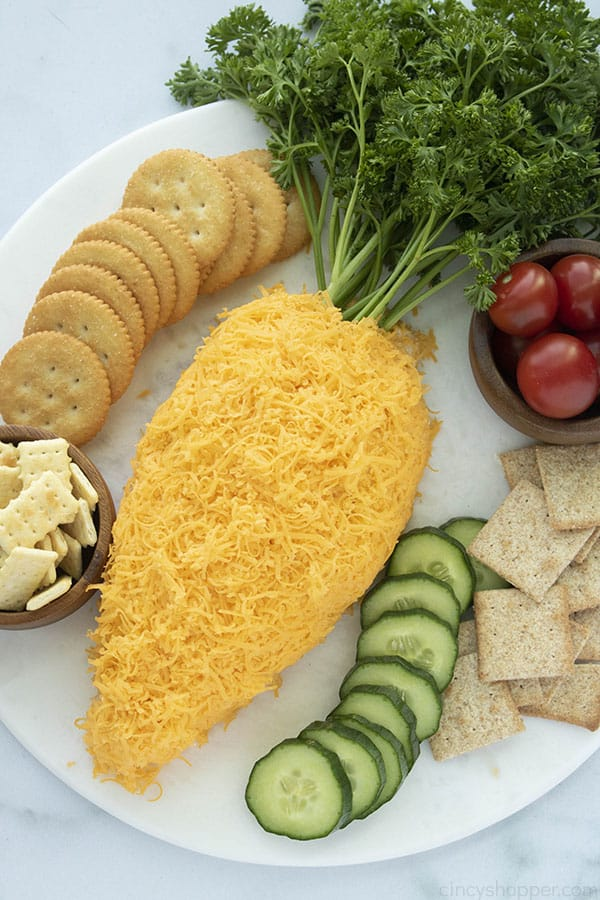 Carrot Shaped Cheese ball for Easter