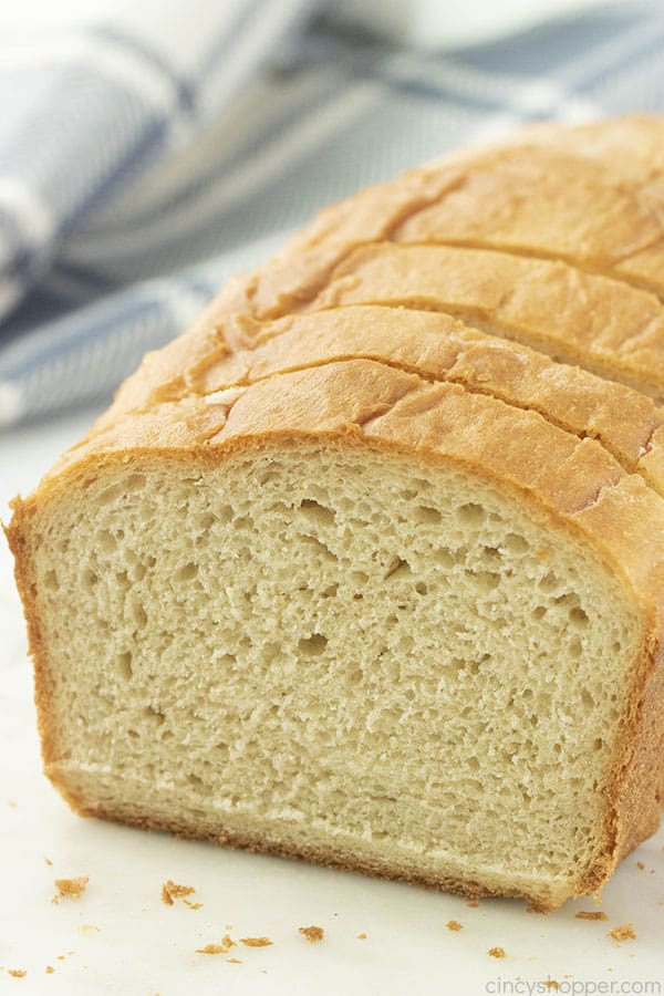loaf of white bread, homemade