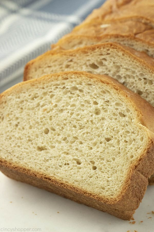 thick slices of homemade bread