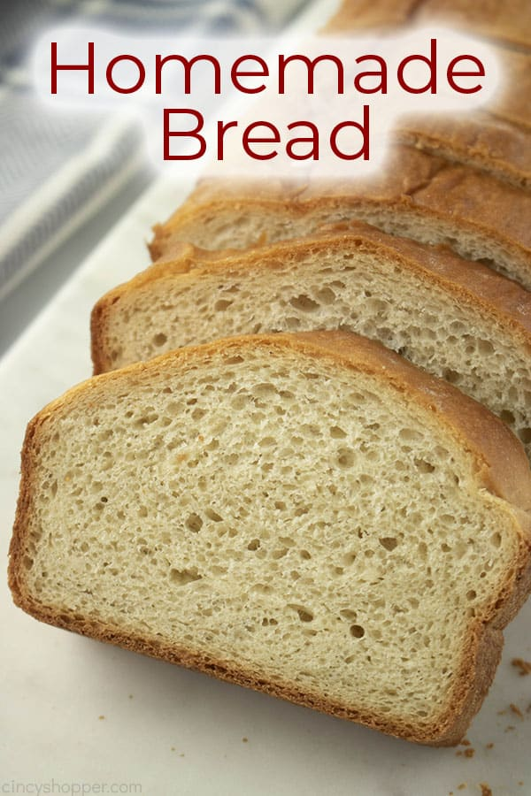 titled photo (and shown): homemade bread